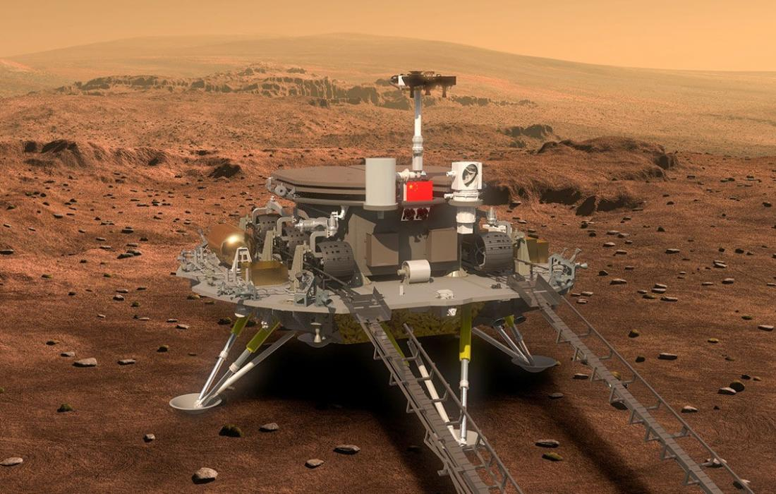 مركبة تجوال صينية تهبط على سطح المريخ.jpeg