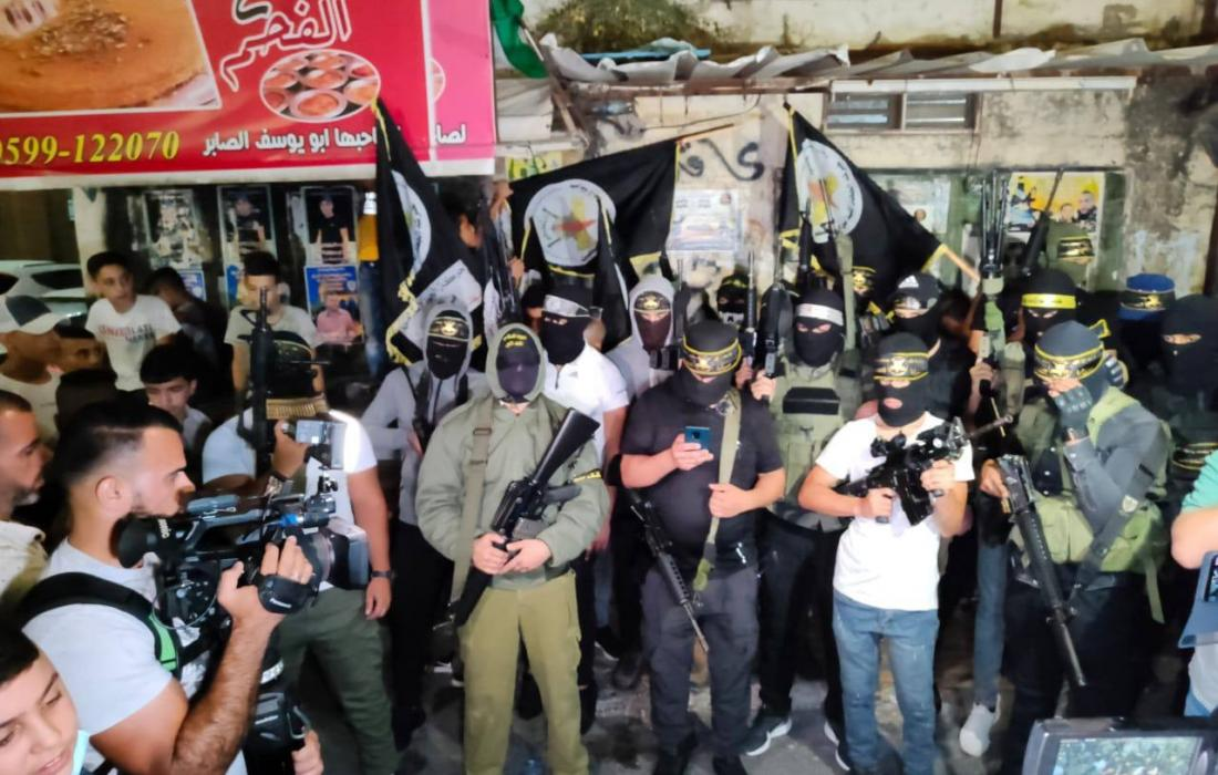 مؤتمر صحفي لسرايا القدس في مخيم جنين