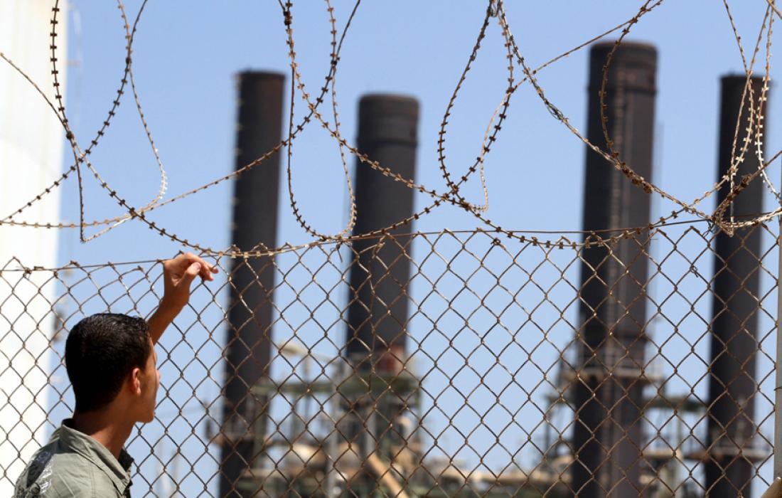محطة الكهرباء بغزة