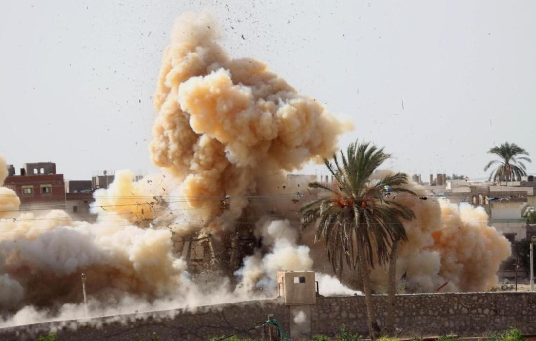 تفجير نفق على حدود مصر- صورة من غوغل