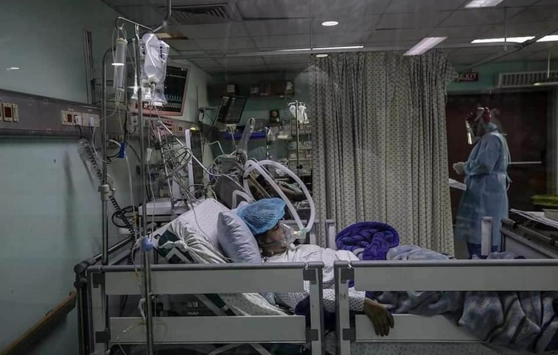 مرضى كورونا في قطاع غزة
