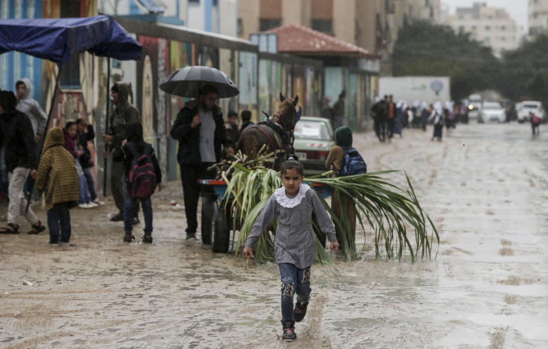 أمطار غزة