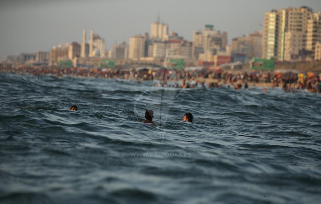 حرارة - بحر غزة