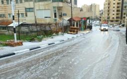 ثلوج وامطار بغزة