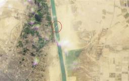 صور فضائية لسفينة الحاويات التي أغلقت قناة السويسي