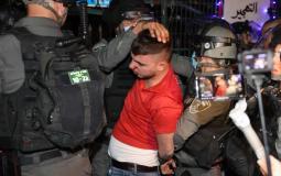 معتقل في حي الشيخ جراح.