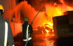 اندلاع حريق في غزة (ارشيف)