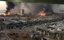 مرفأ #بيروت جراء الانفجار الضخـم (14)