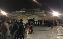 اعتداء قوات الاحتلال على المصلين في الاقصى