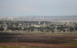 مرتفعات الجولان الحدود السورية الاسرائيلية