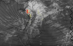 صورة تحليل آخر صور الأقمار الصناعة مع فرص هطول الامطار في فلسطين