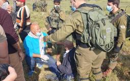 قوات الاحتلال تعتدي على تظاهرة في نابلس