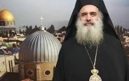 رئيس أساقفة سبسطية للروم الأرثوذكس في القدس المحتلة المطران عطا الله حنا
