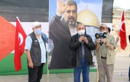 أداء صلاة الغائب على روح فقيد الأمة العربية والإسلامية الدكتور رمضان عبدالله شلح في مسجد الفاتح في اسطنبول (10)