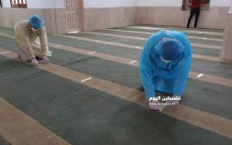 تعقيم المساجد في غزة