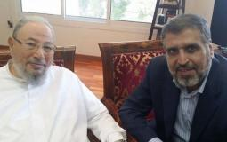 الدكتور رمضان شلح والشبخ القرضاوي