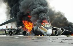 تحطم طائرة بعد سقوطها