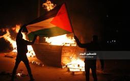 مسيرات غاضبة في جنين عقب استشهاد الشاب يزن أبو طبيخ وسط مواجهات عنيفة (6)