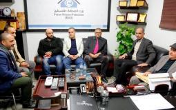 وفد كلية الاعلام جماعة الاقصى بيت الصحافة
