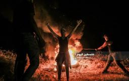 مظاهرة على حدود غزة