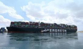 هيئة قناة السويس تعلن عن اعداد السفن في وضع الانتظار جراء جنوح السفينة