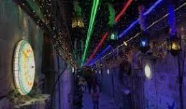 حي باب حطة بالقدس المحتلة يرتدي زينة شهر رمضان المبارك