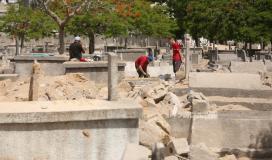 فيديو لحفر ونبش قبور في القدس