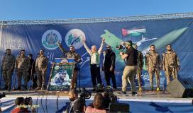 """حماس تنظم مهرجان لتأبي شهداء """"سيف القدس"""" وسط غزة"""