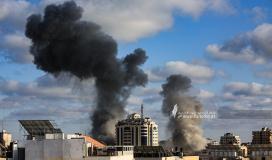 العدوان الاسرائيلى قصف مبنى الاوقاف (7).JPG