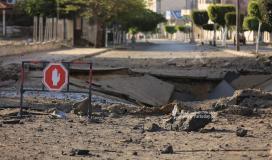 آثار الدمار الذي لحق بمفترق السرايا منتصف مدينة غزة (18).JPG
