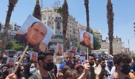 مسيرة في رام الله تنديدًا لاغتيال الناشط نزار بنات 4.jpg