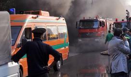 حريق في مبنى الارشيف بمصر.JPG