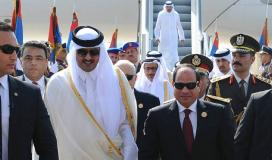 أمير قطر والسيسي