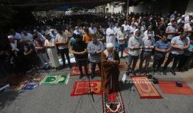 صلاة الجمعة أمام مقر الصليب الأحمر  تضامنًا مع الأسرى (43).JPG