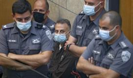صورة للاسير يعقوب قادري في المحكمة