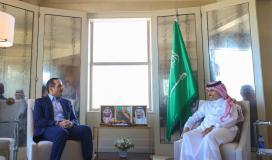 وزير الخارجية فيصل بن فرحان التقى نظيره القطي محمد بن عبد الرحمن آل ثاني.jpg