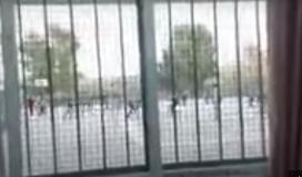 فيديو اعتداء الطلبة على مدرسة شمال غزة.JPG