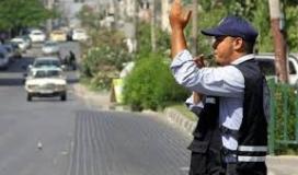 شرطة المرور بغزة
