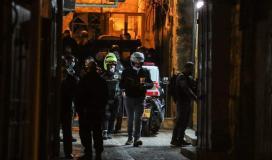 صورة من مكان تنفيذ العملية الفدائية في القدس المحتلة