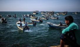 ميناء غزة - صيادون - بحر غزة