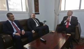 الوفد الأمني المصري يلتقي نائب رئيس الوزراء زياد أبو عمر