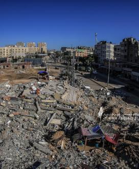 مشاهد الدمار فى بيت لاهيا مازالت تروي وحشية الإحتلال الاسرائيلى