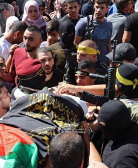 بالصور: وداع شهيد سرايا القدس أسامة صبح الذي ارتقى بجنين