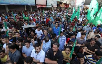 """بالصور:مسيرة جماهيرية في ذكرى صفقة وفاء الأحرار ونصرةً للأسرى  والمسرى """"شمال القطاع"""""""
