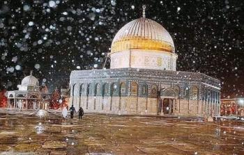 ثلوج في القدس